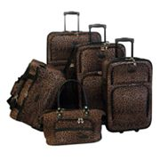 American Flyer Leopard 5-pc. Luggage Set