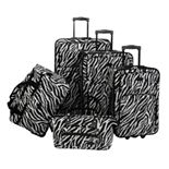 American Flyer 5-Piece Zebra Luggage Set