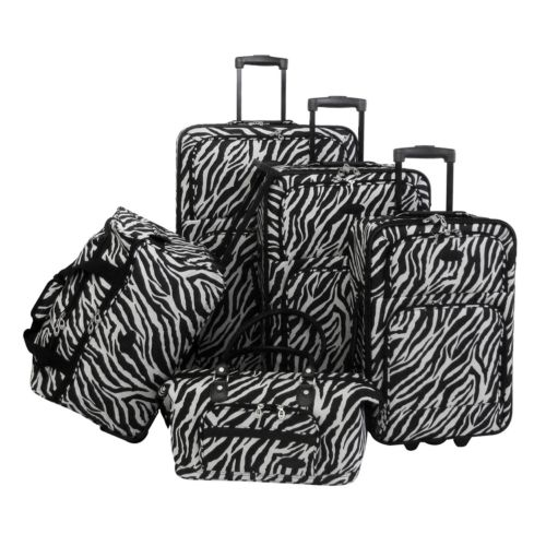 American Flyer Luggage, 5-pc. Zebra Luggage Set