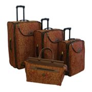 American Flyer Paisley 4-pc. Luggage Set