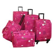 American Flyer 5 pc Fireworks Luggage Set