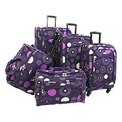 American Flyer 5 pc Fireworks Luggage Set