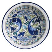 Le Souk Ceramique Aqua Fish 12-in. Serving Bowl