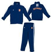 adidas Detroit Tigers Jacket and Pants Set - Toddler