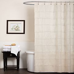 Lush Decor La Sposa Fabric Shower Curtain