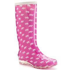 Womens Pink Rain Boots - Cr Boot