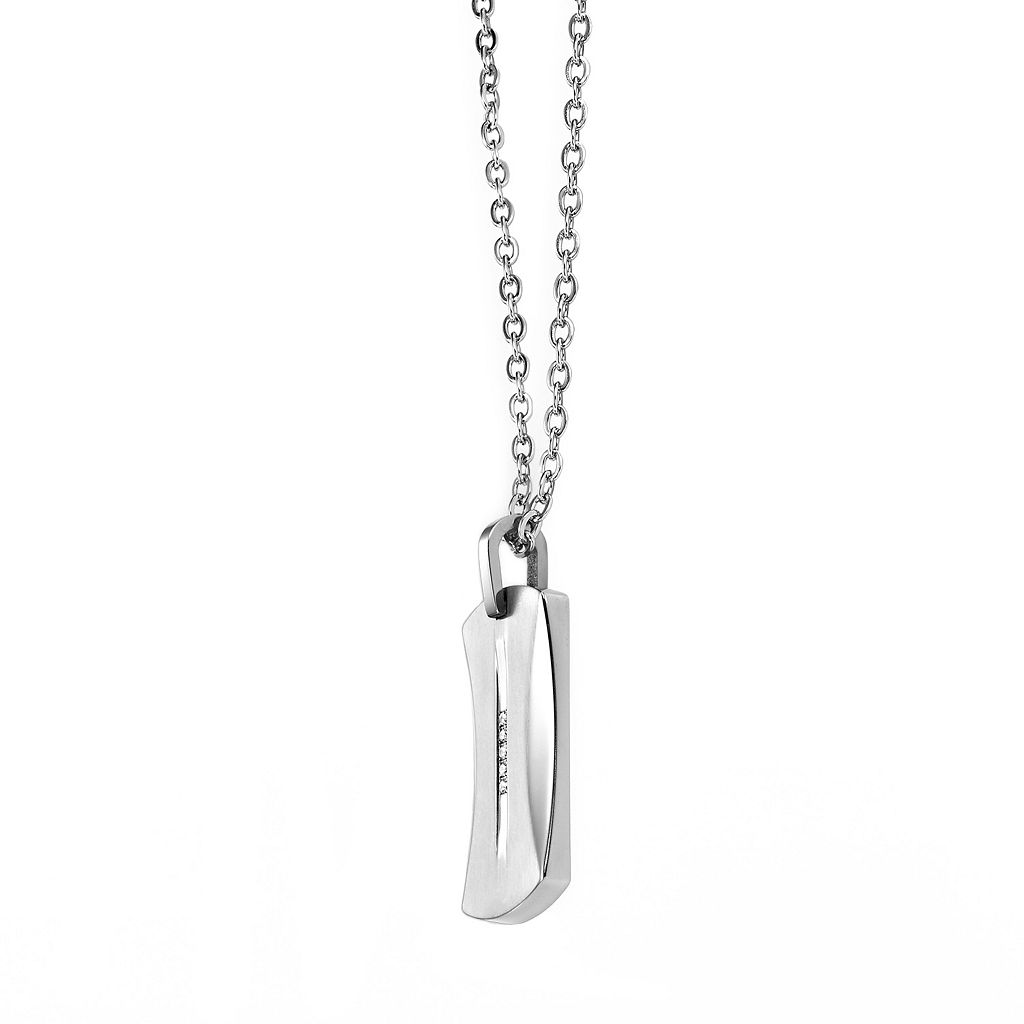 AXL by Triton Titanium 1/8-ct. Diamond Dog Tag - Men