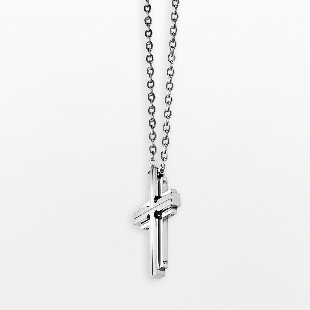 AXL by Triton Titanium Cross Pendant - Men
