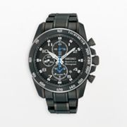Seiko Sportura Stainless Steel Black Ion Chronograph Watch - SNAE77 - Men