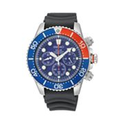 Seiko Solar Stainless Steel Diver's Chronograph Watch - SSC031 - Men