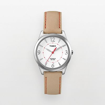 Timex Weekender Silver Tone Leather Watch - T2N861KW - Women