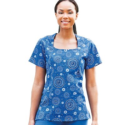 Jockey Scrubs Medallion Banded Top - Women's Plus