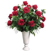 Allstate Floral 28-in. Artificial Rose, Fern And Eucalyptus Floral Arrangement