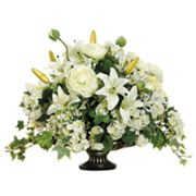 Allstate Floral 15-in. Artificial Ranunculus, Lily And Snowball Floral Arrangement