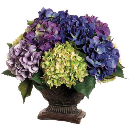 16-in. Artificial Hydrangea Floral Arrangement