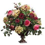 Allstate Floral 21-in. Artificial Rose, Hydrangea And Euphorbia Floral Arrangement