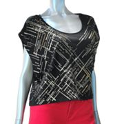 Rock and Republic Geometric Embellished Crop Top