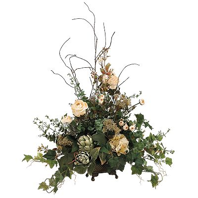 Allstate Floral 27-in. Artificial Rose, Artichoke And Ranunculus Floral Arrangement
