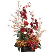 Allstate Floral 31-in. Artificial Bitter, Rose, Dahlia And Orchid Floral Arrangement