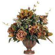 Allstate Floral 20-in. Artificial Magnolia, Rose And Hydrangea Floral Arrangement