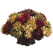 Allstate Floral 15-in. Artificial Artichoke, Rose, Hydrangea And Mum Floral Arrangement