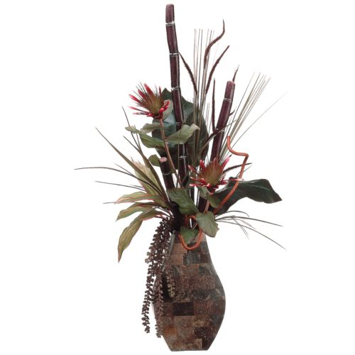 41-in. Artificial Sugarcane And Protea Floral Arrangement