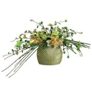 Allstate Floral 14-in. Artificial Cymbidium, Ranunculus And Bamboo Floral Arrangement