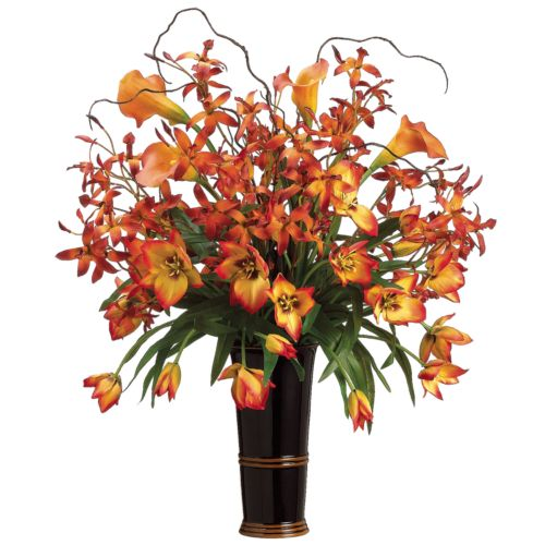 31-in. Artificial Orchid, Tulip And Calla Lily Floral Arrangement