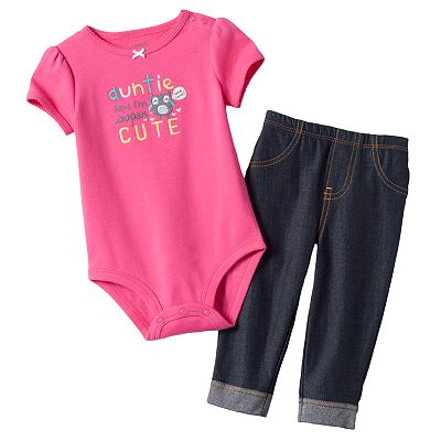Carter's Auntie Says I'm Supercute Bodysuit and Jeggings Set - Baby