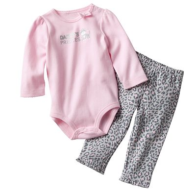 Carter's Daddy's Princess Bodysuit and Cheetah Pants Set - Baby