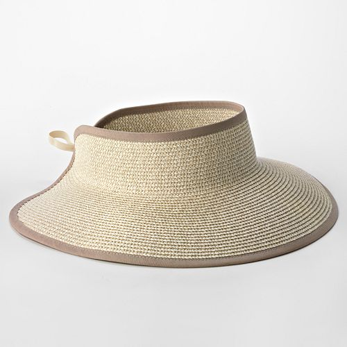 4 Buttons By San Diego Hat Co. Roll-Up Visor Hat