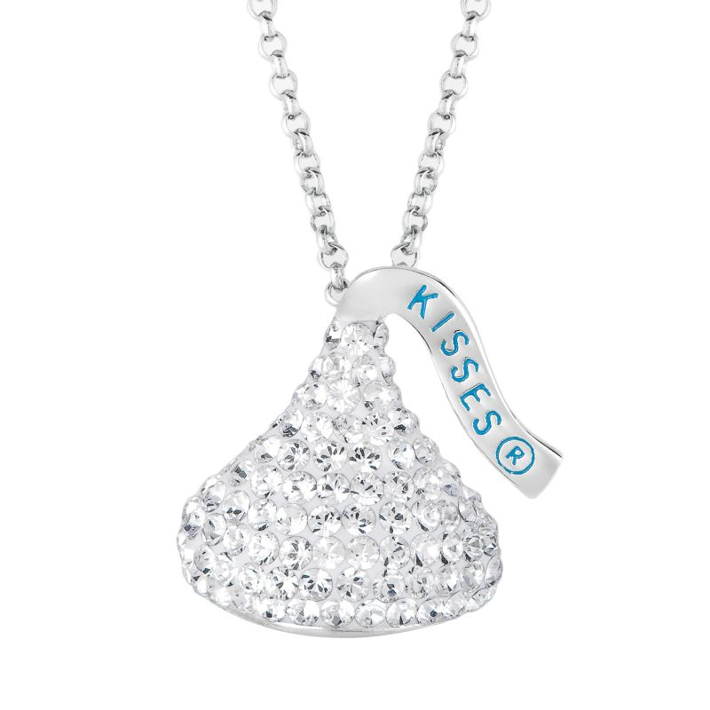 Hershey's Kiss Sterling Silver Crystal Pendant - Made with Swarovski Elements