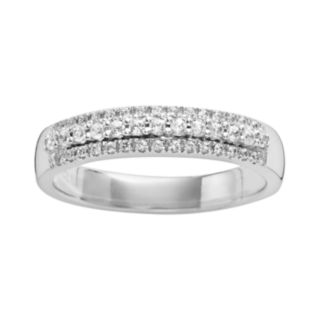 14k White Gold 1/4-ct. T.W. IGL Certified Diamond Multirow Wedding Band