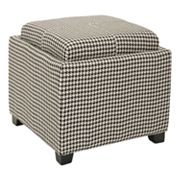 Safavieh Bennett Square Houndstooth Single Tray Storage Ottoman