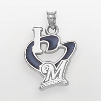 LogoArt Milwaukee Brewers Sterling Silver Heart Logo Charm