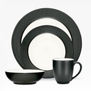 Noritake Colorwave Graphite Rim 16-pc. Dinnerware Set