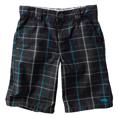Tony Hawk Yarn-Dyed Plaid Shorts - Boys 4-7x