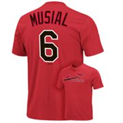 Majestic St. Louis Cardinals Stan Musial Cooperstown Collection Tee