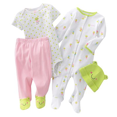 Carter's Frog Sleep and Play Set - Preemie