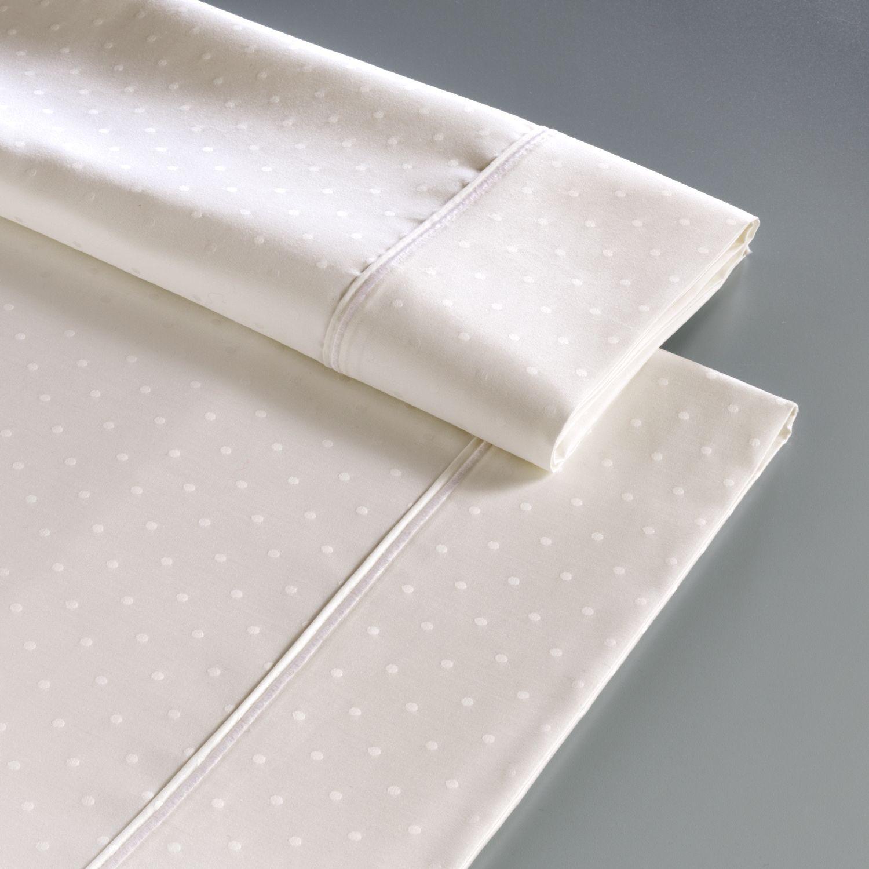 Deals Simply Vera Vera Wang 800 Thread Count Jacquard Dot Sheet Set Queen Saraithc44y