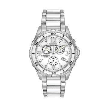 Citizen Eco-Drive Women's Diamond Stainless Steel & Ceramic Chronograph Watch - FB1230-50A