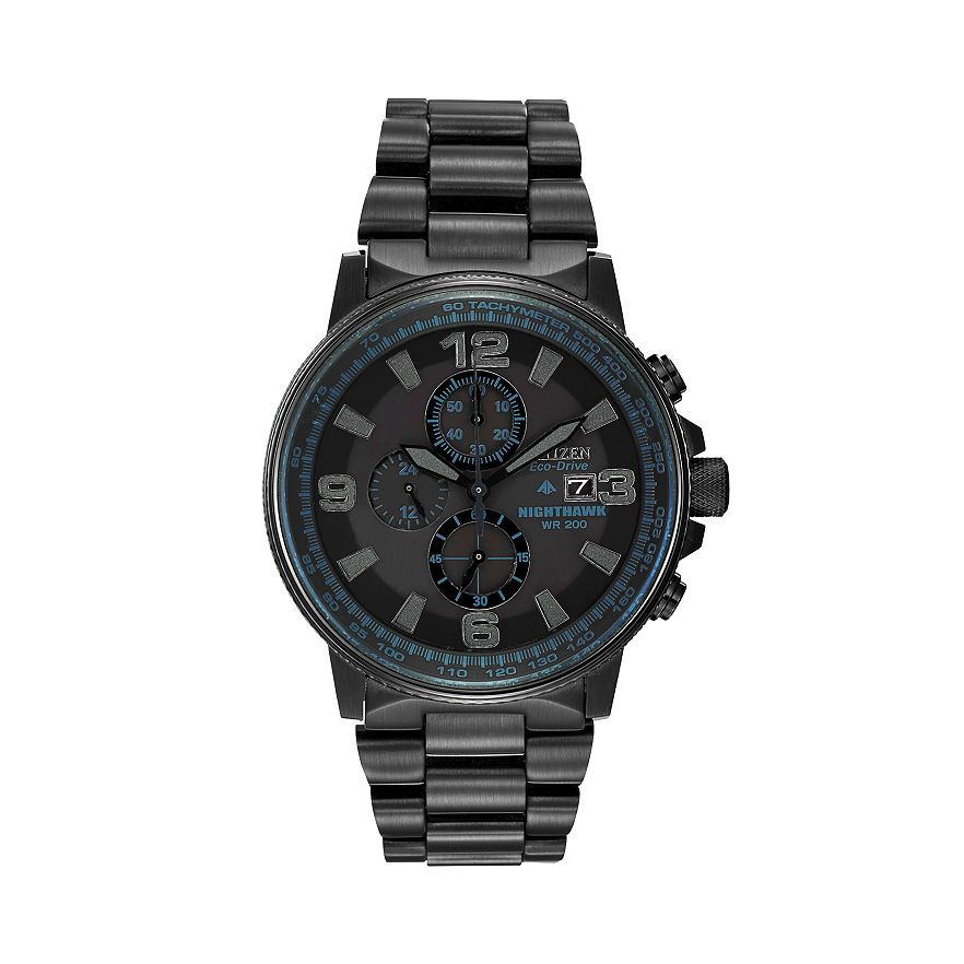 citizen eco drive men s nighthawk stainless steel chronograph citizen eco drive men s nighthawk stainless steel chronograph watch ca0295 58e view larger