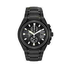 mens citizen watches kohl s citizen eco drive titanium black ion chronograph watch ca0265 59e men