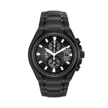 Citizen Eco-Drive Titanium Black Ion Chronograph Watch - CA0265-59E - Men