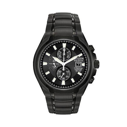 1fb3e4183 Citizen Eco-Drive Titanium Black Ion Chronograph Watch - CA0265-59E