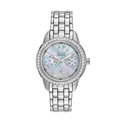 Citizen Silhouette Eco-Drive Stainless Steel Crystal & Mother-of-Pearl Watch - FD1030-56Y - Women