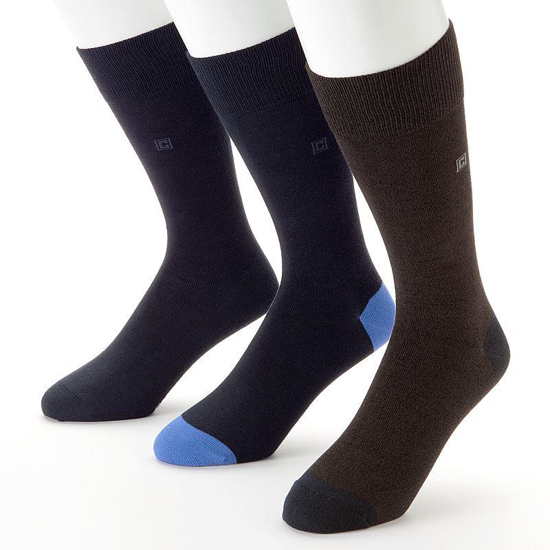 Men's Chaps 3-pk. Microfiber Soft Touch Crew Socks