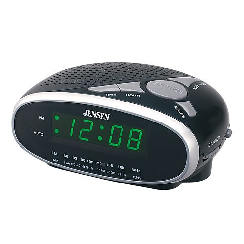 jensen led digital alarm clock radio. Black Bedroom Furniture Sets. Home Design Ideas