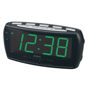 jensen digital alarm clock radio. Black Bedroom Furniture Sets. Home Design Ideas