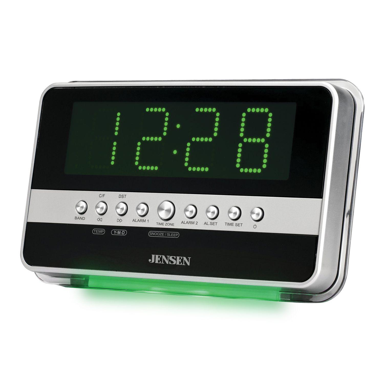 jensen dual digital alarm clock radio with wave sensor alarm (2018) movie top 10 best alarm clocks with radio in